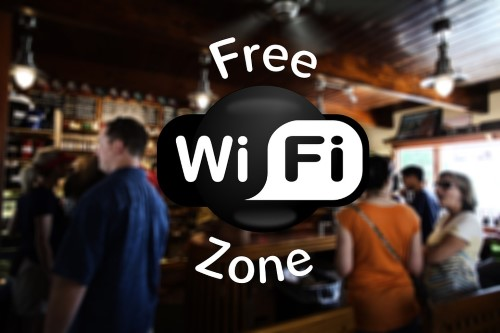 Sign fro free wifi hotspot
