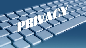 Keyboard with the word 'Privacy' overlaid