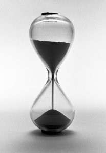 Hourglass - representing the time that SEO takes