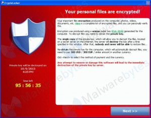 CryptoLocker Screen