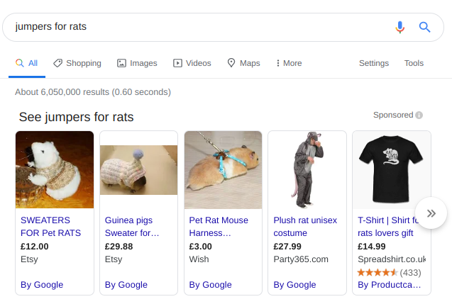 "Google search for ""jumpers for rats"""